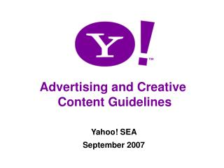 Advertising Content Guidelines