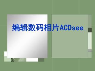 编辑数码相片 ACDsee