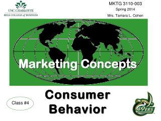 Marketing Concepts Consumer  Behavior