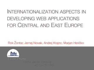 Internationalization  aspects in developing web applications for Central and East Europe