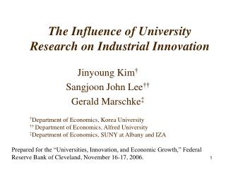 The Influence of University Research on Industrial Innovation