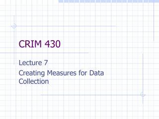 CRIM 430