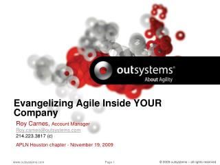 Evangelizing Agile Inside YOUR Company
