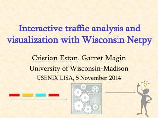 Interactive traffic analysis and visualization with Wisconsin Netpy