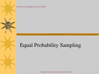 Equal Probability Sampling