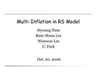 Multi-Inflation in RS Model