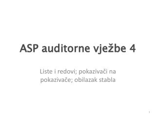 ASP auditorne vje�be  4