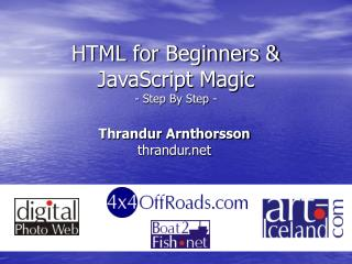 HTML for Beginners & JavaScript Magic - Step By Step -
