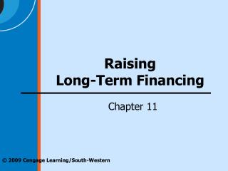 Raising Long-Term Financing