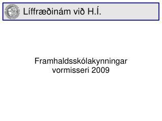 Líffræðinám við  H.Í.