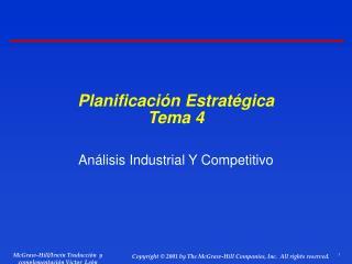 Planificación Estratégica Tema 4
