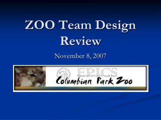 ZOO Team Design Review