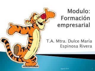 Modulo:  Formación empresarial