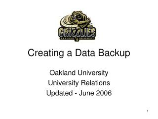 Creating a Data Backup