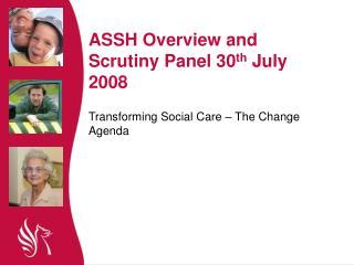 Transforming Social Care – The Change Agenda