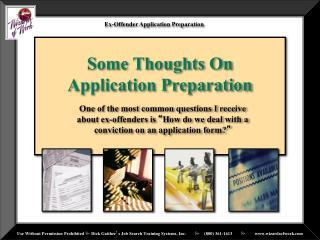 Ex-Offender Application Preparation