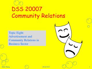DSS 20007  Community Relations