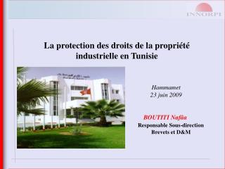 La protection des droits de la propriété  industrielle en Tunisie