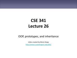 CSE 341 Lecture 26