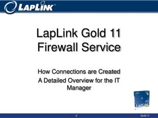 LapLink Gold 11 Firewall Service