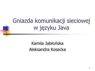Gniazda komunikacji sieciowej w j?zyku Java