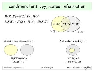 conditional entropy, mutual information