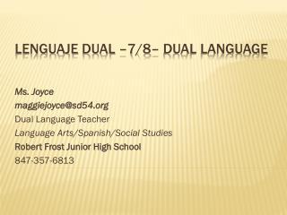 Lenguaje  Dual �7/8� Dual Language