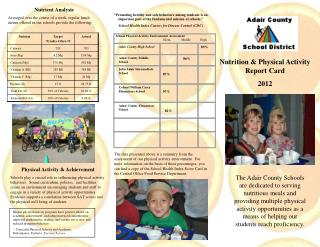 Nutrition & Physical Activity Report Card 2012