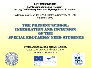 AUTUMN SEMINARS LLP Erasmus Intensive Program