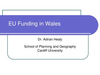 EU Funding in Wales
