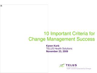 10 Important Criteria for Change Management Success