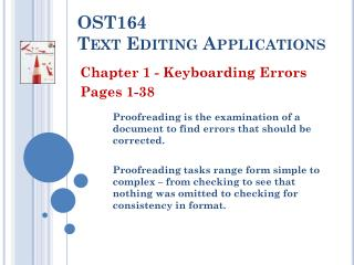 OST164  Text Editing Applications