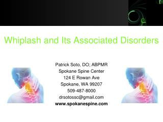 Whiplash and Its Associated Disorders