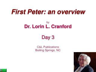 First Peter: an overview