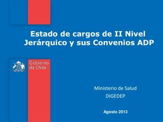 Estado de cargos de II Nivel   Jerárquico y sus Convenios ADP