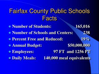 Fairfax County Public Schools Facts