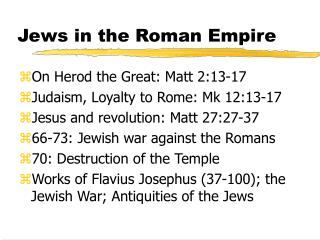 Jews in the Roman Empire