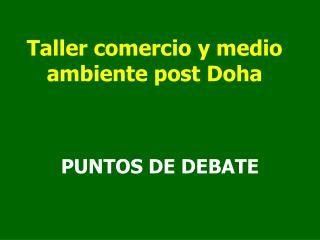 Taller comercio y medio ambiente post Doha