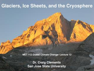 MET 112 Global Climate Change- Lecture 12