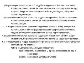 Glikol�zis