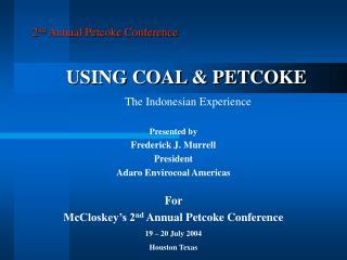 USING COAL  PETCOKE