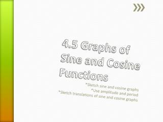 4.5 Graphs of Sine and Cosine Functions