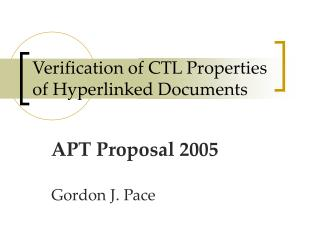 Verification of CTL Properties of Hyperlinked Documents