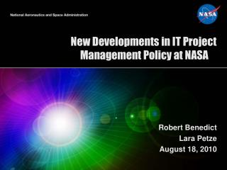 New Developments in IT Project Management Policy at NASA