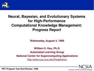 Neural, Bayesian, and Evolutionary Systems for High-Performance