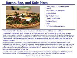 Bacon, Egg, and Kale Pizza