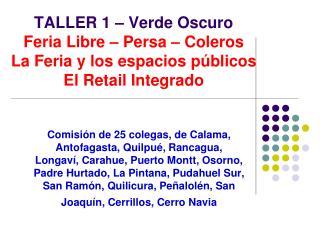 Análisis Feria Libre – Persa – Coleros La Feria y los espacios públicos