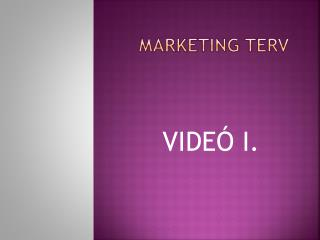 MARKETING TERV