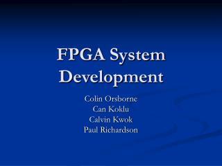 FPGA System Development