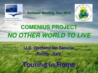 I.I.S. Gaetano De Sanctis Rome -  Italy